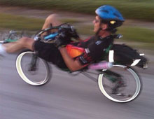 a recumbent bicycle